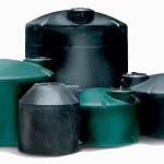 220 Gallon Water Tank - Potable Vertical Black