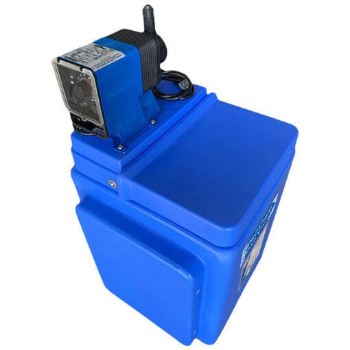 PailVault PLUS Blue Showing Pump On Top