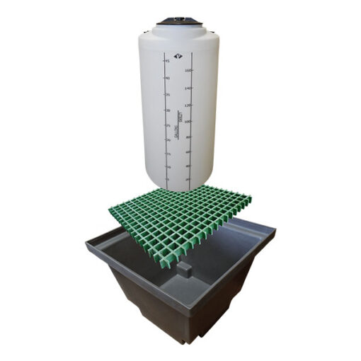 ProChem® Tank 50 Gallon with Basin 60 gallon size with FRP Grating